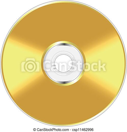 Disco compacto dorado - csp11462996