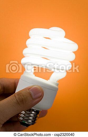 Una bombilla fluorescente compacto - csp2320040