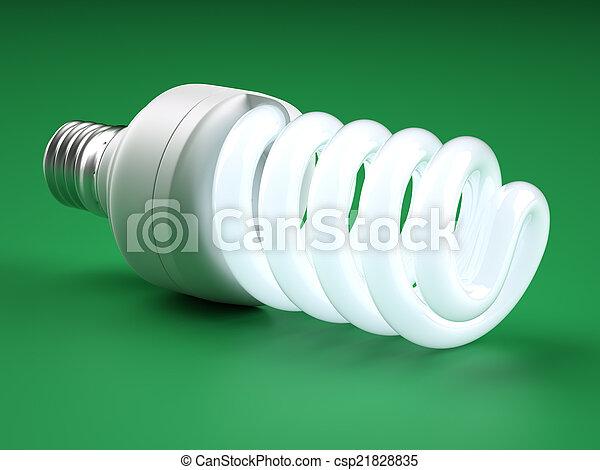 Una bombilla fluorescente compacta - csp21828835