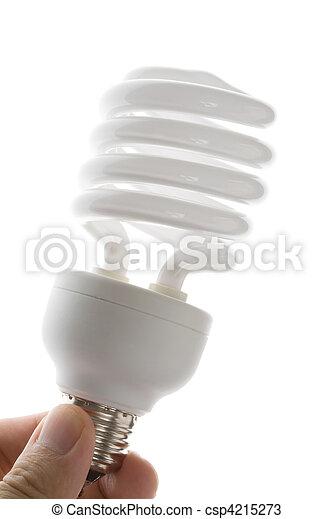 Una bombilla fluorescente compacto - csp4215273