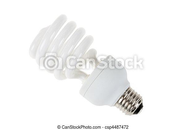 Una bombilla fluorescente compacta - csp4487472