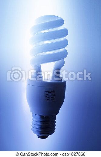 Una bombilla fluorescente compacto - csp1827866