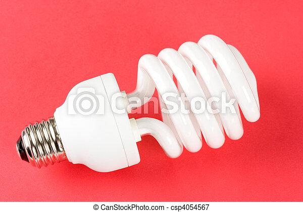Una bombilla fluorescente compacta - csp4054567