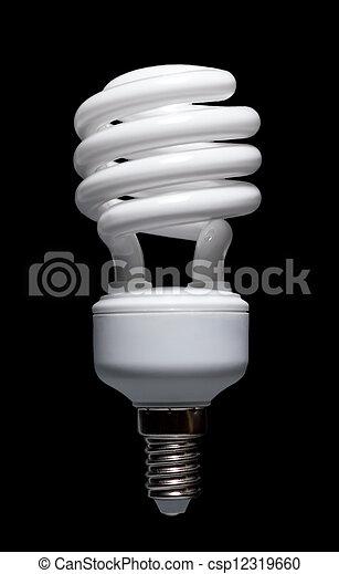 Energía ahorrando una bombilla fluorescente compacta - csp12319660