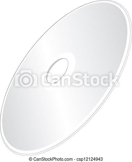 Vector compact disc un CD o DVD - csp12124943