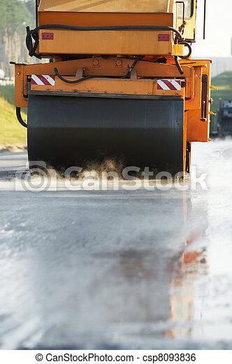compactor roller at asphalting work - csp8093836