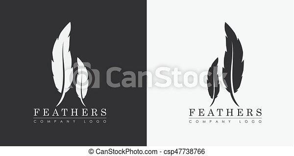 Compagnie Publishers Nom écrivain Plumes Deux Conception Logo Ou