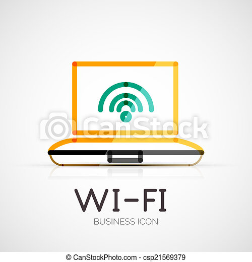 companhia, conceito, logotipo, negócio, wifi - csp21569379