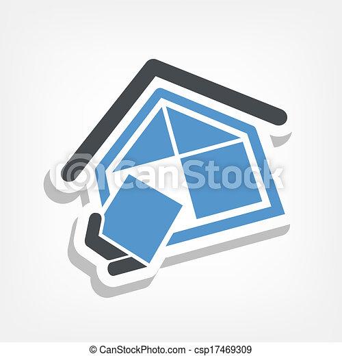 companhia, construção, símbolo - csp17469309