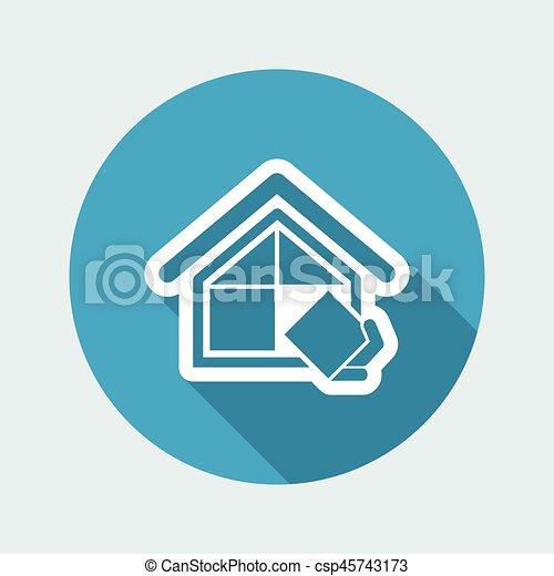companhia, construção, símbolo - csp45743173