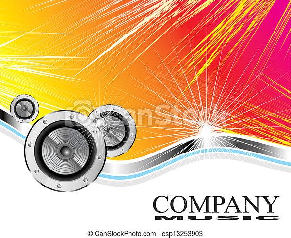 companhia, negócio música, cartão - csp13253903