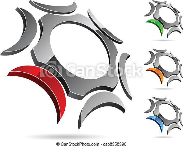 companhia, símbolo. - csp8358390