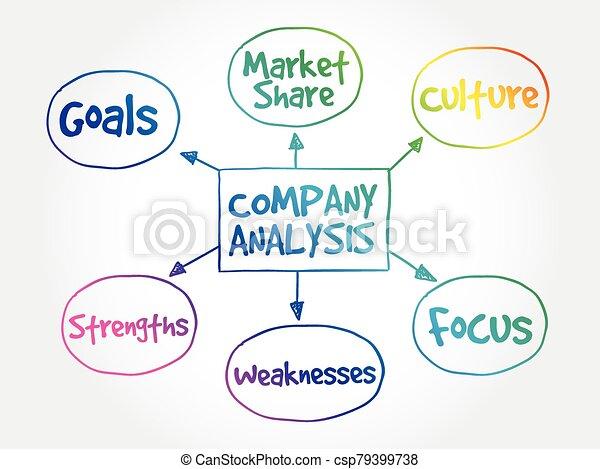 Company analysis mind map - csp79399738