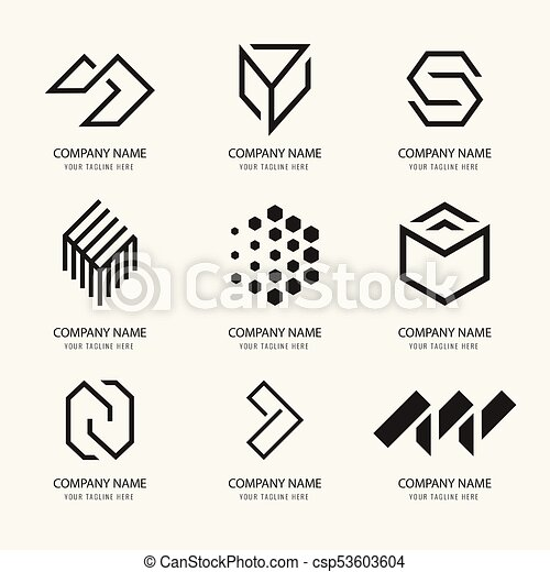 company brand template logo identity csp53603604
