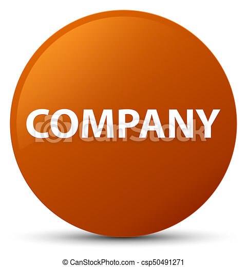 Company brown round button - csp50491271