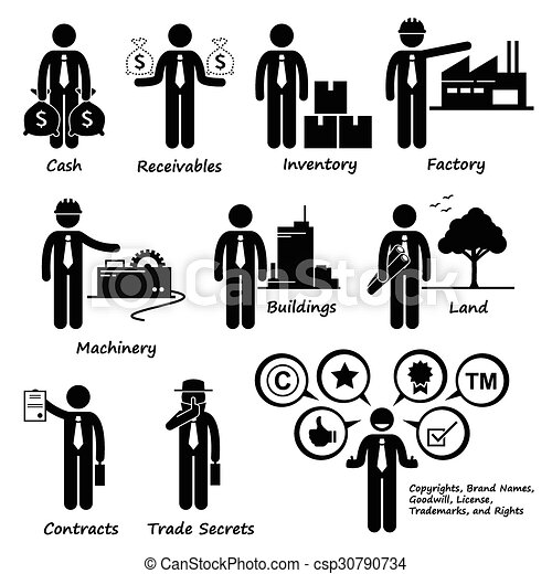 Company Business Assets Pictogram - csp30790734