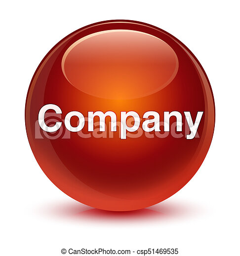 Company glassy brown round button - csp51469535