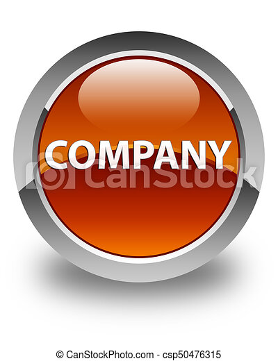 Company glossy brown round button - csp50476315