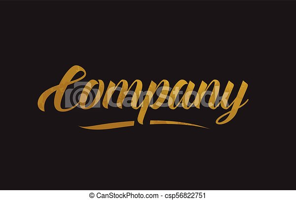 Company gold word text illustration typography - csp56822751