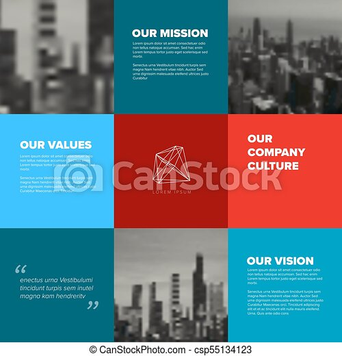 Company mission, vision values template. Company culture template ...