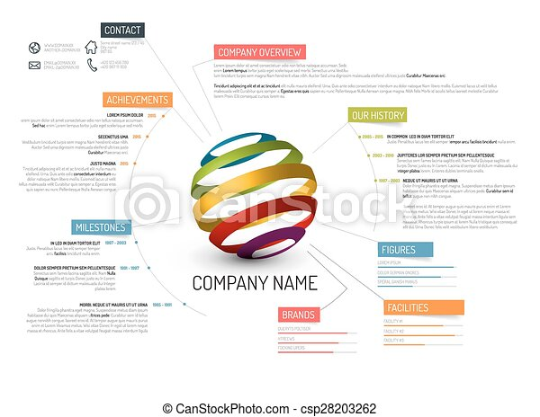 Company overview template. Vector company overview design template.