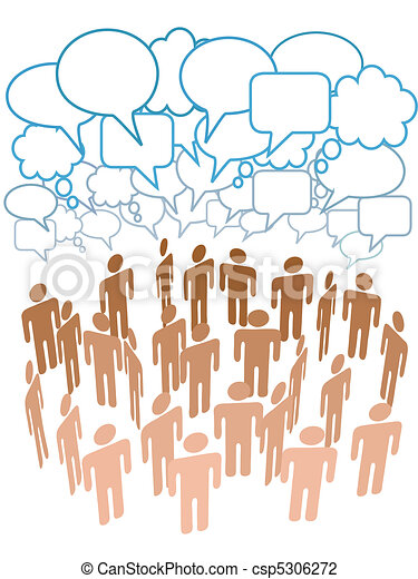 Company people group talk network social media - csp5306272
