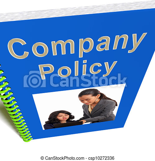 Company policy book shows rules for employees. Company policy book ...