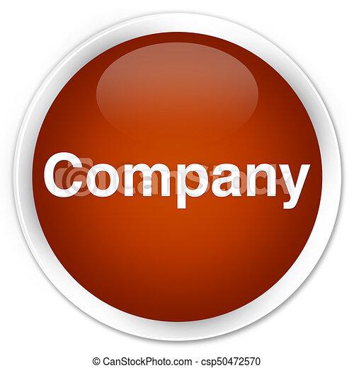 Company premium brown round button - csp50472570