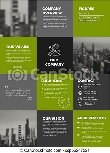 company profile template corporation main information presentation