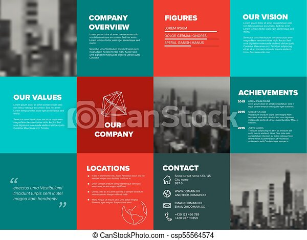 Company profile template - corporation main information predentation.