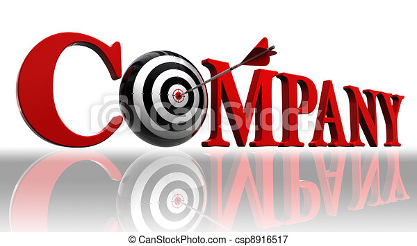 company red word and conceptual target - csp8916517