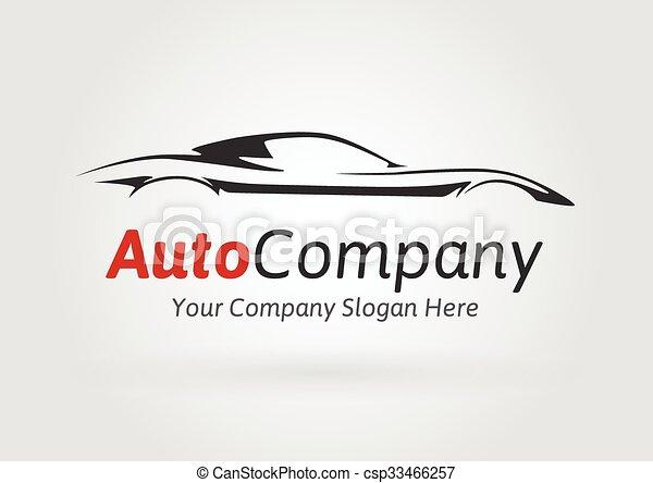 Company Sports Car Silhouette Logo Modern Auto Company Vehicle Logo Design Concept With Sports Car Silhouette Vector