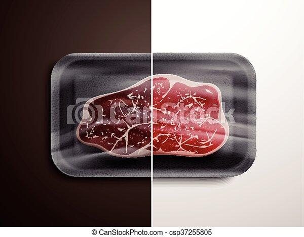 Comparación de calidad de carne - csp37255805