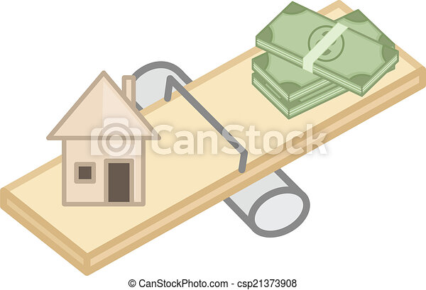 Compare Between Home And Money Low Cost House Real Estate Concept