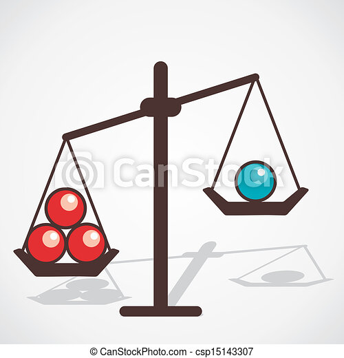Compare color ball red ball is more heavy than blue for More clipart
