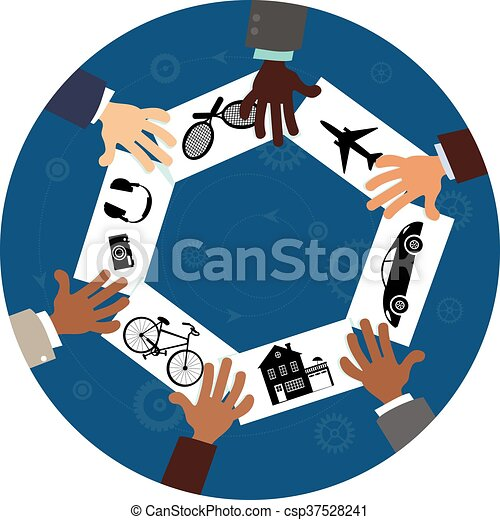 Compartir la economía - csp37528241