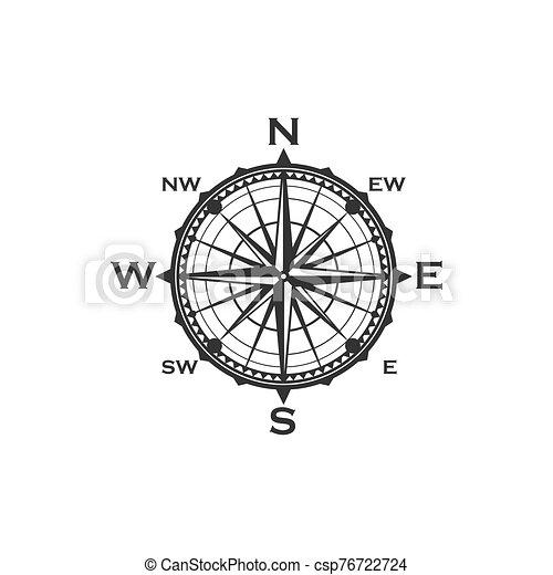 compas, symbole, vendange, signe - csp76722724