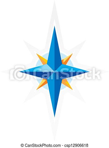 compas, wind-rose - csp12906618