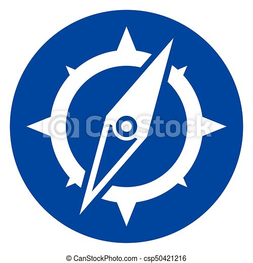 Illustration Of Compass Blue Circle Icon Vector Clip Art Search