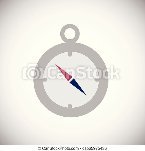 Compass color flat icon on white background - csp65975436