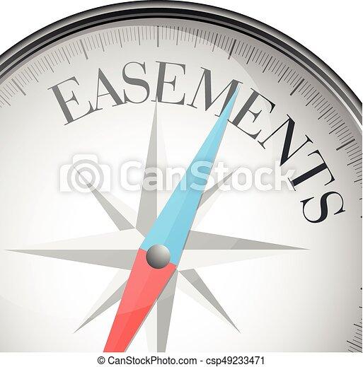 compass concept Easements - csp49233471