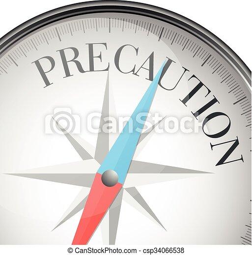 compass concept Precaution - csp34066538