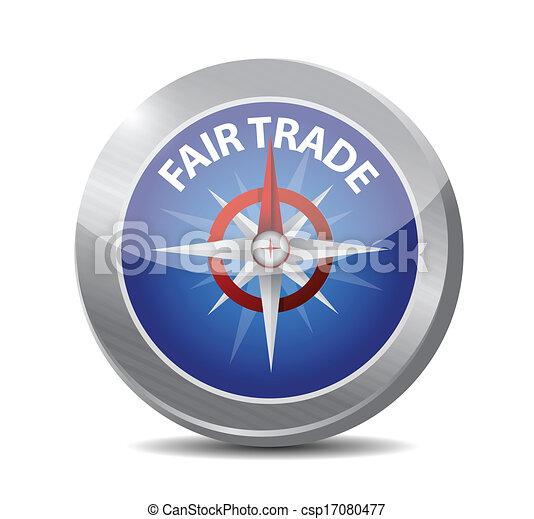 compass guide to fair trade. illustration design - csp17080477