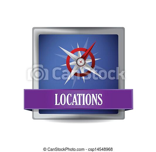Compass icon button - csp14548968
