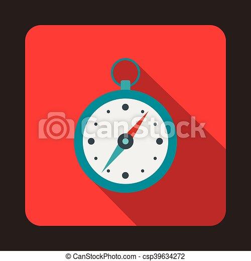 Compass icon, flat style - csp39634272