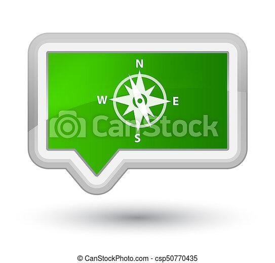 Compass icon prime green banner button - csp50770435
