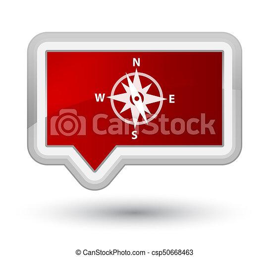 Compass icon prime red banner button - csp50668463