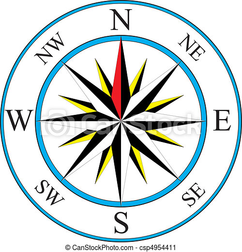 Compass Icon Vector Illustration Of Simple Compass Vector Clip Art