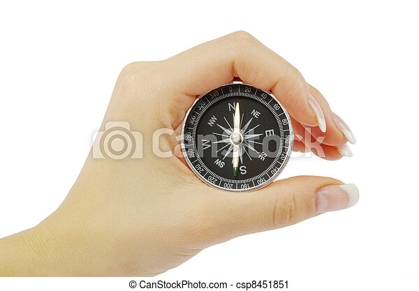 Compass in a hand - csp8451851