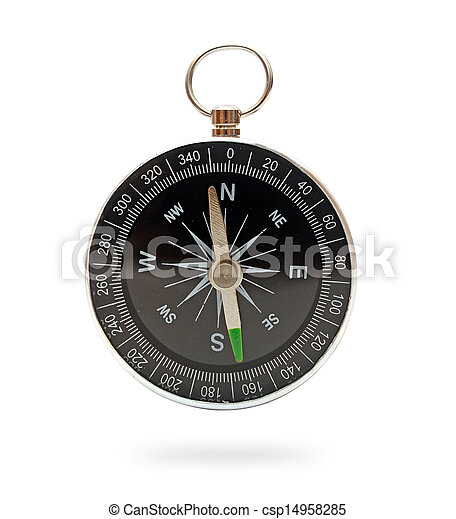 compass isolated on white background - csp14958285